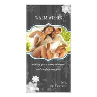 Foto negra y blanca de la cadera de las vacaciones tarjetas fotográficas personalizadas