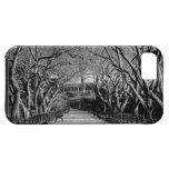 Foto negra y blanca del Central Park del paisaje iPhone 5 Cárcasas