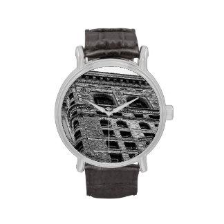 Foto negra y blanca del edificio de Flatiron en NY Reloj De Mano