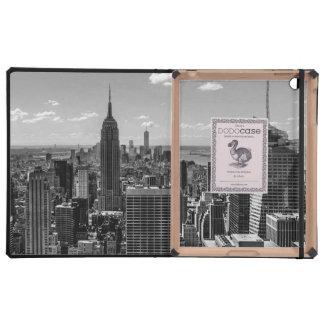 Foto negra y blanca del horizonte de New York City iPad Protectores