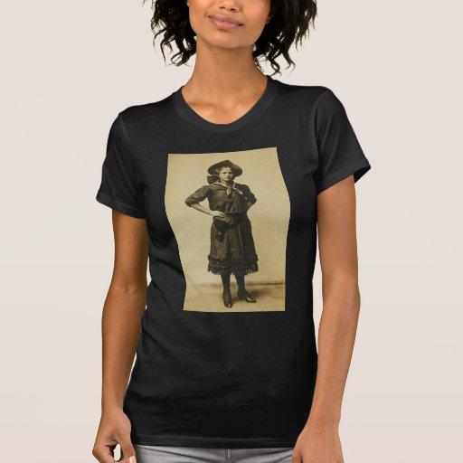 Foto occidental de la vaquera del vintage camisetas