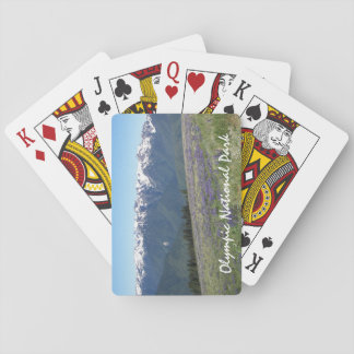 Foto olímpica del parque nacional cartas de juego