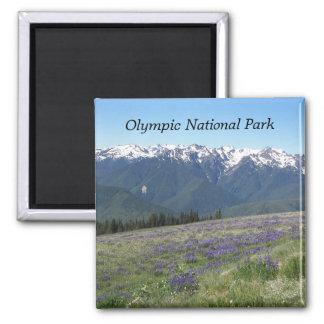 Foto olímpica del viaje del parque nacional imán cuadrado