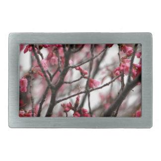 Foto original de la macro de las flores de cerezo hebilla cinturon