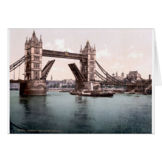 Foto original de Londres TowerBridge 1900's Tarjeta De Felicitación