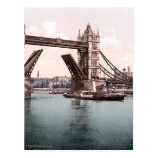 Foto original de Londres TowerBridge 1900's Tarjeta Postal