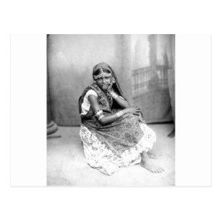 Foto original del chica indio en Trinidad 1890 Tarjeta Postal