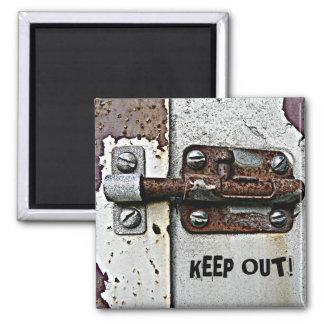 Foto oxidada de la cerradura del perno imán para frigorifico
