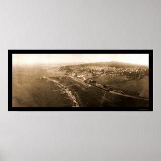 Foto pacífica 1906 de CA de la arboleda Póster