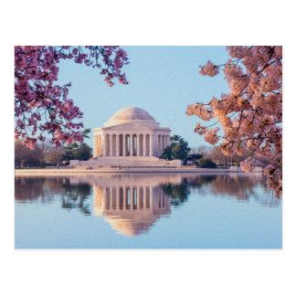 Foto painterly hermosa del monumento de Jefferson Postal
