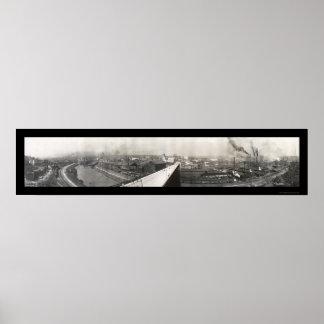 Foto panorámica 1905 de Youngstown Impresiones