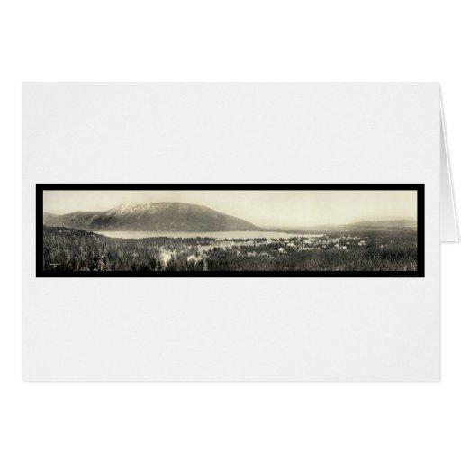 Foto panorámica 1911 del lago magnífico, Colorado Tarjeta De Felicitación