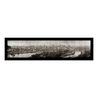 Foto panorámica 1911 del manganeso de San Pablo Póster