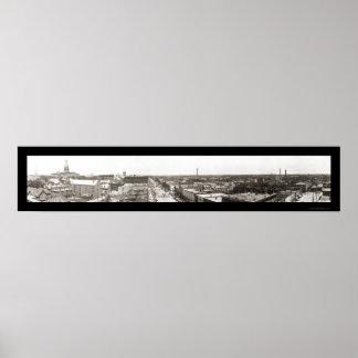 Foto panorámica 1912 de Lansing MI Posters