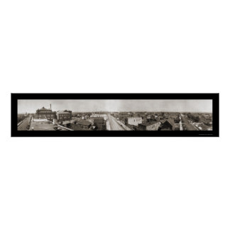 Foto panorámica 1914 del manganeso de Hibbing Póster