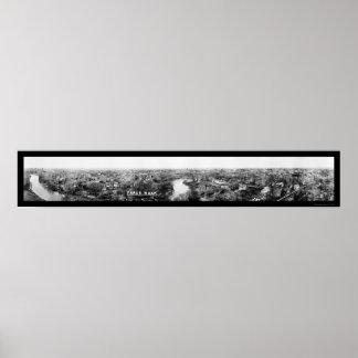 Foto panorámica 1921 de Fargo, Dakota del Norte Posters