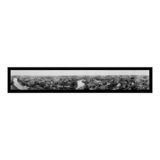 Foto panorámica 1921 de Fargo, Dakota del Norte Póster