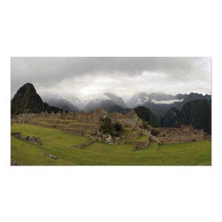Foto panorámica de Machu Picchu