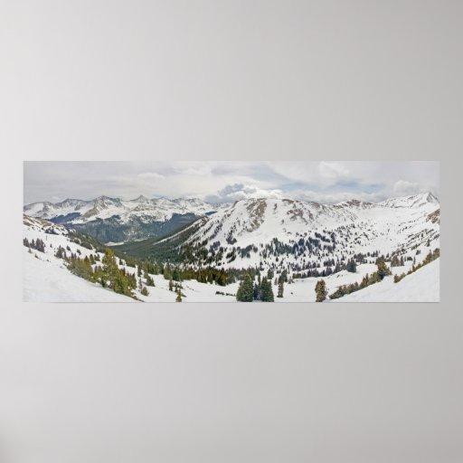 Foto panorámica - montaña de cobre, Colorado Posters
