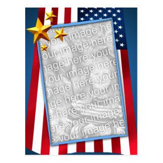 Foto patriótica de la bandera americana postal
