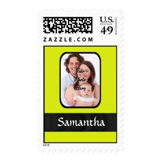 Foto personalizada amarillo brillante sellos