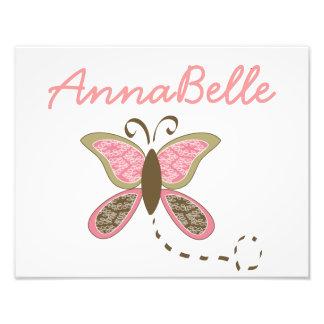 Foto personalizada bebé del chica de la mariposa