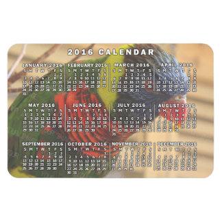 Foto personalizada calendario mensual de 2016 años imán