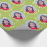 Foto personalizada con el saludo del cumpleaños - papel de regalo