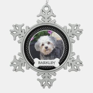 Foto personalizada del mascota con el hueso de adorno
