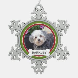 Foto personalizada del mascota con el hueso de adornos