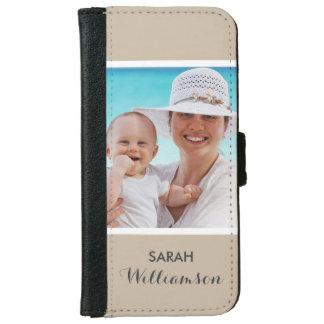 Foto personalizada elegante - personalizado fácil funda cartera para iPhone 6