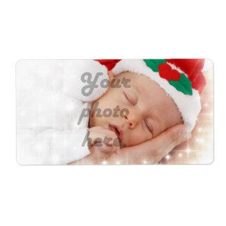 Foto personalizada etiquetas de envío