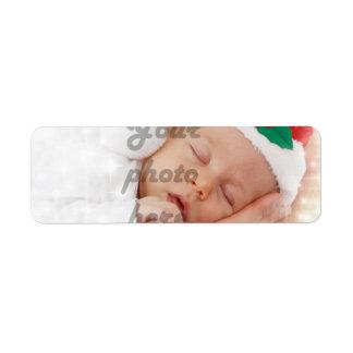 Foto personalizada etiqueta de remite