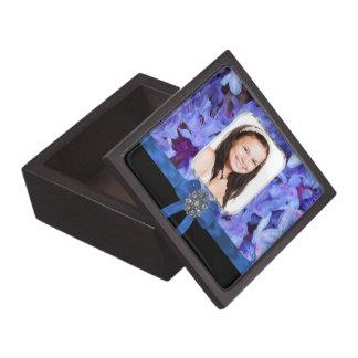 Foto personalizada flor azul cajas de regalo de calidad
