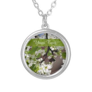 Foto personalizada floral del flor colgante redondo