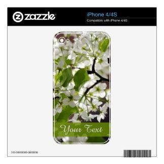 Foto personalizada floral del flor iPhone 4S calcomanía