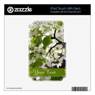 Foto personalizada floral del flor iPod touch 4G skin