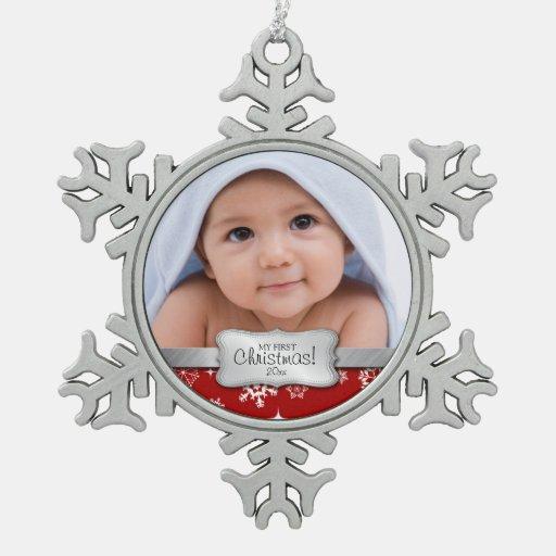 Foto personalizada - mi 1r navidad adorno