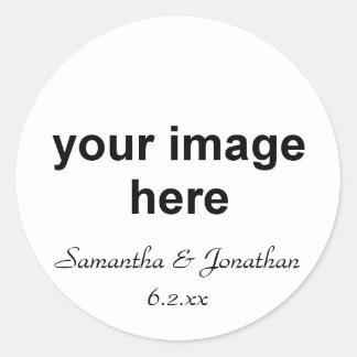 Foto personalizada pegatina redonda