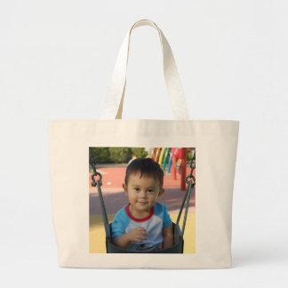 Foto personalizada personalizado bolsa tela grande