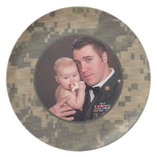 Foto personalizada personalizado militar del platos de comidas