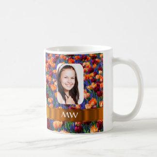 Foto personalizada tulipán anaranjado taza
