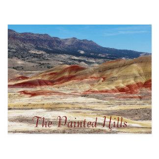 Foto pintada escénica del viaje de las colinas postales