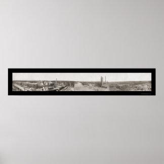 Foto pobre 1910 del condado de Cook de la granja Poster