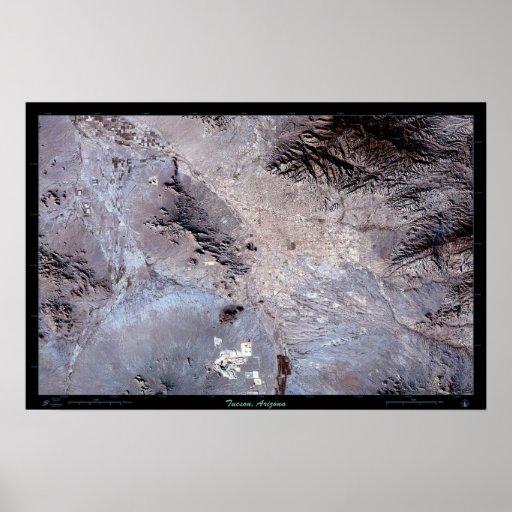 Foto por satélite del poster de Tucson Arizona (cl