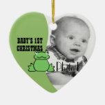 "Foto primer navidad del bebé"" de la rana de la div ornatos"