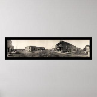 Foto principal 1907 del St de Perry Iowa Póster