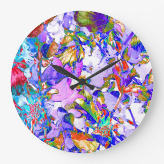 Foto púrpura Acryllic moderno del arte abstracto d Relojes De Pared