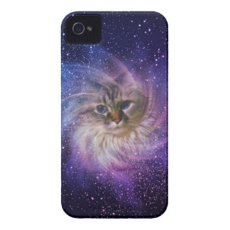 Foto púrpura de la nebulosa de la firma del mundo iPhone 4 carcasa