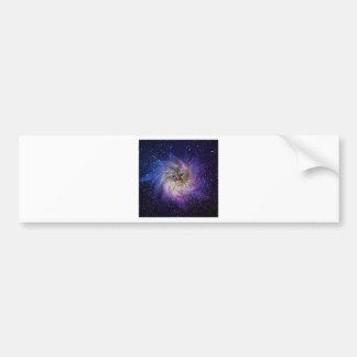 Foto púrpura de la nebulosa de la firma del mundo pegatina para auto